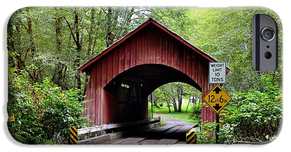 Recently Sold -  - Covered Bridge iPhone Cases - North Fork Yachats Covered Bridge iPhone Case by Ansel Price