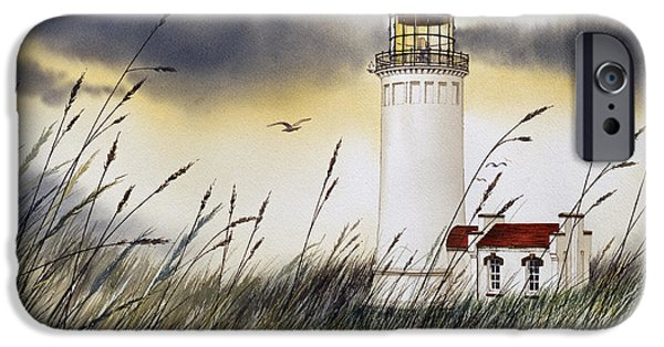 Landscape Greeting Cards iPhone Cases - North Head Lighthouse iPhone Case by James Williamson