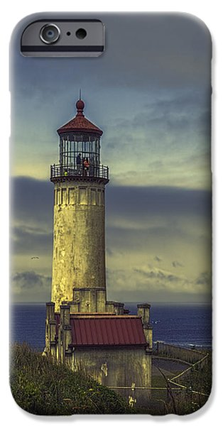 Head Harbour Lighthouse iPhone Cases - North Head Lighthouse iPhone Case by Jean OKeeffe Macro Abundance Art