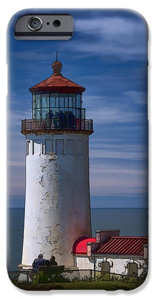 Marine iPhone Cases - North Head Lighthouse iPhone Case by Joan Carroll