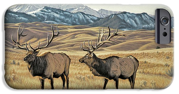 Peak iPhone Cases - North of Yellowstone iPhone Case by Paul Krapf