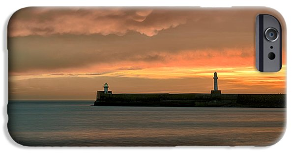 Marker iPhone Cases - North Pier Dawn iPhone Case by Dave Bowman