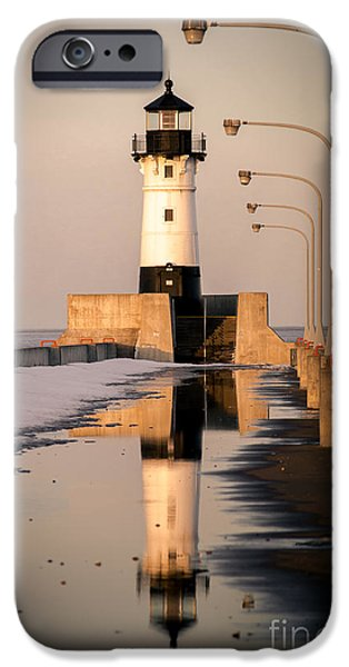 Duluth iPhone Cases - North Pier Sunset Melt iPhone Case by Shutter Happens Photography