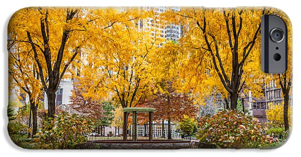 Recently Sold -  - City. Boston iPhone Cases - North Plaza Fountain iPhone Case by Susan Cole Kelly