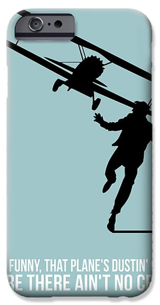 Films By Alfred Hitchcock iPhone Cases - North Poster 3 iPhone Case by Naxart Studio
