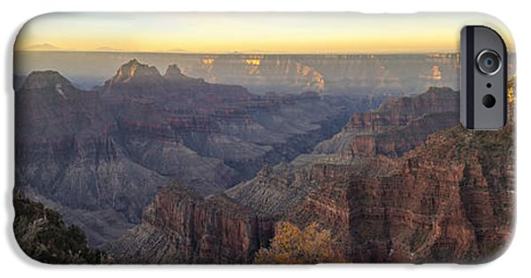 Grand Canyon iPhone Cases - North Rim Sunrise Panorama 2 - Grand Canyon National Park - Arizona iPhone Case by Brian Harig