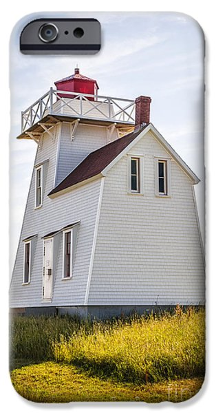 Province iPhone Cases - North Rustico Lighthouse iPhone Case by Elena Elisseeva