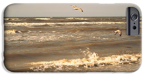 Poetic iPhone Cases - North Sea Coastal Line. Holland iPhone Case by Jenny Rainbow