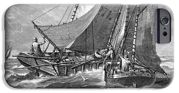North Sea iPhone Cases - North Sea Liquor Smuggling, 1880s iPhone Case by Bildagentur-online