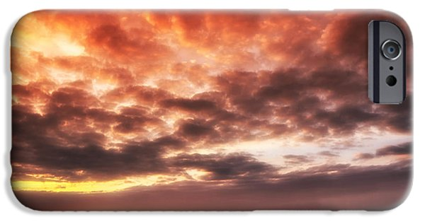 Wadden Sea iPhone Cases - North Sea Sunset iPhone Case by Mountain Dreams
