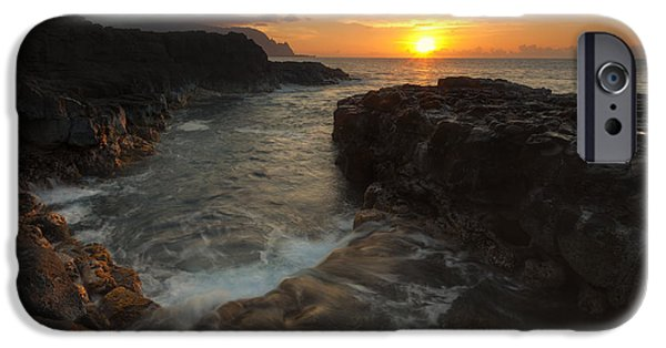 Ocean Sunset iPhone Cases - North Shore Paradise iPhone Case by Mike  Dawson