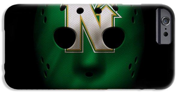 Minnesota iPhone Cases - North Stars Jersey Mask iPhone Case by Joe Hamilton