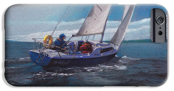 Sailing Pastels iPhone Cases - North Wind iPhone Case by Michael  Weber