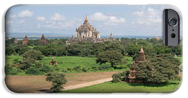 Buddhist iPhone Cases - Northern And Eastern View Of Stupas iPhone Case by Panoramic Images