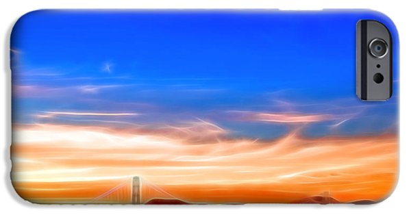 Sausalito Digital Art iPhone Cases - Northern Gateway to Silicon Valley iPhone Case by Kayta Kobayashi