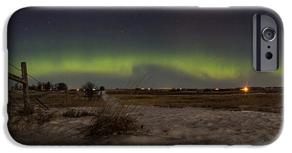 Aurora iPhone Cases - Northern Lights from South Dakota iPhone Case by Aaron J Groen