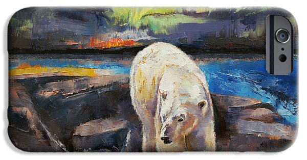 Michael iPhone Cases - Northern Lights iPhone Case by Michael Creese