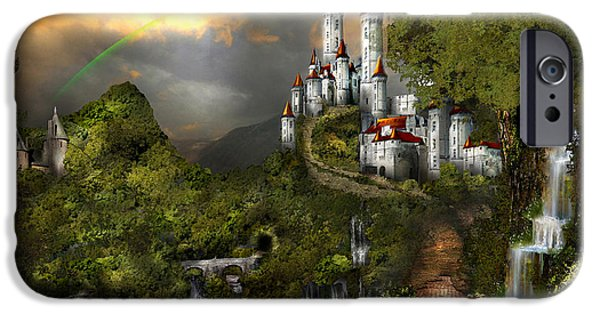 Master Potter iPhone Cases - NORTHERN OZ....castle 12 iPhone Case by Vjkelly Artwork