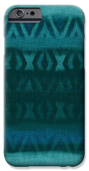Northern Teal Weave iPhone Case by CR Leyland
