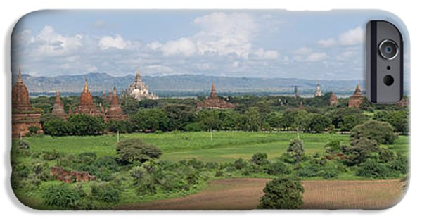 Buddhist iPhone Cases - Northern View Of Stupas And Temples iPhone Case by Panoramic Images