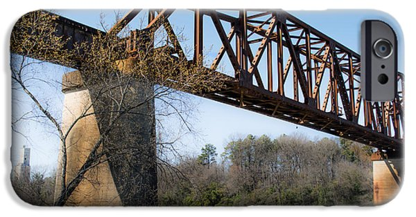 Tuscaloosa iPhone Cases - Northport Trestle over the Tuscaloosa River iPhone Case by Parker Cunningham