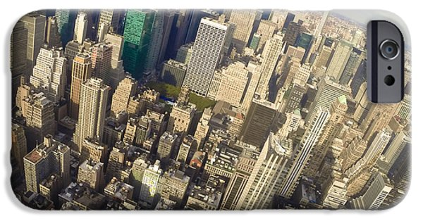 River View iPhone Cases - Northward from Empire State iPhone Case by Steven Lapkin