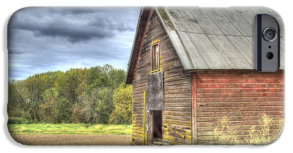 Field. Cloud iPhone Cases - Northwest Barn iPhone Case by Jean Noren