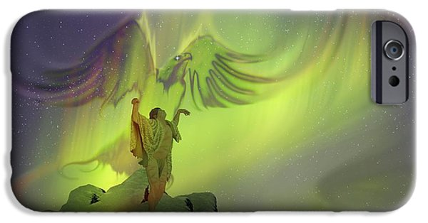 Mythological iPhone Cases - Northwest Coast American Indians Spirits iPhone Case by Matthew Frey