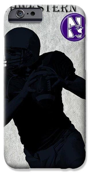 Business Digital iPhone Cases - Northwestern Football iPhone Case by David Dehner