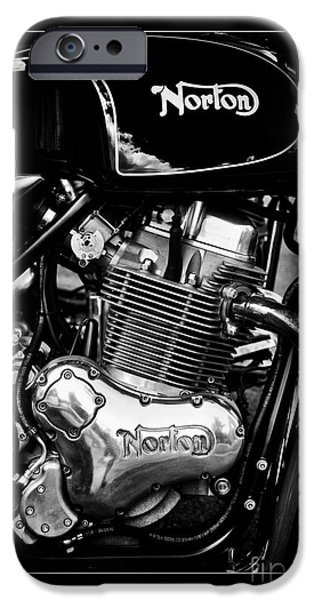 Tim Gainey iPhone Cases - Norton Commando 961 Sport Monochrome iPhone Case by Tim Gainey