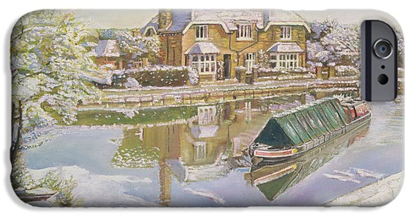 Winter iPhone Cases - Norton Junction, 2003 Oil On Canvas iPhone Case by Kevin Parrish
