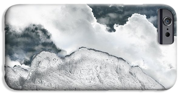 Planet Fantastic iPhone Cases - Norway Space Landscape iPhone Case by Augusta Stylianou