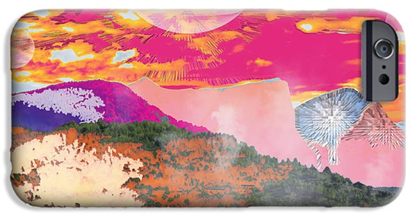 Norway iPhone Cases - Norway Space Landscape iPhone Case by Augusta Stylianou
