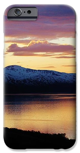 Norwegian Fjordland Sunset iPhone Case by David Broome