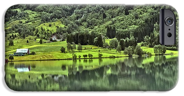 Norway iPhone Cases - Norwegian Landscape iPhone Case by Beth Wolff
