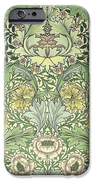 Food And Beverage Tapestries - Textiles iPhone Cases - Norwich Pattern iPhone Case by William Morris