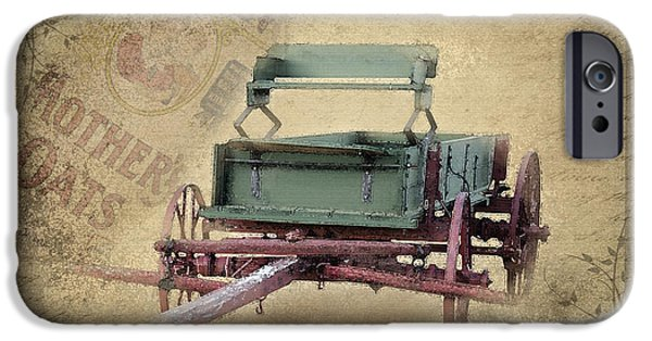 Wooden Wagons iPhone Cases - Nostalgia iPhone Case by Betty LaRue