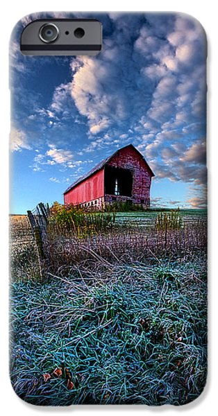Crops iPhone Cases - Nostalgia Blues iPhone Case by Phil Koch