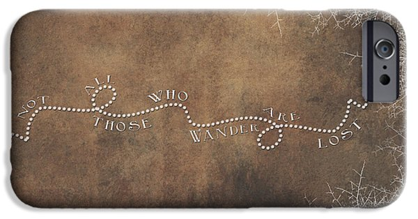 Jrr iPhone Cases - Not All Those Who Wander Are Lost iPhone Case by Heather Applegate