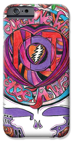 Love Drawings iPhone Cases - Not Fade Away iPhone Case by Kevin J Cooper Artwork