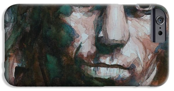 Keith Richards iPhone Cases - Not Fade Away iPhone Case by Paul Lovering