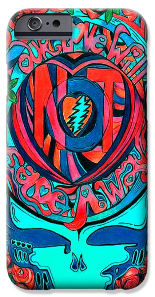 Rocks Drawings iPhone Cases - Not Fade Away TWO iPhone Case by Kevin J Cooper Artwork