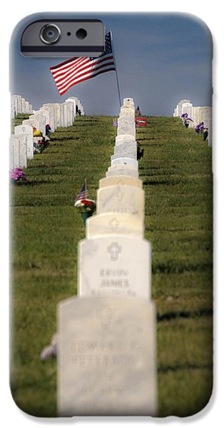 Cemetary iPhone Cases - Not Forgotten iPhone Case by David Berg