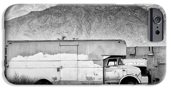 Not In Service iPhone Cases - NOT IN SERVICE BW Palm Springs iPhone Case by William Dey