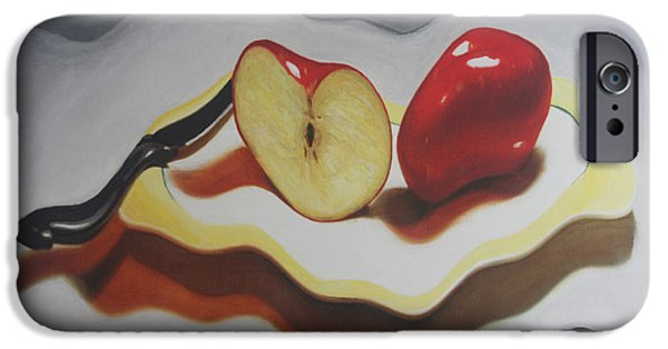 Strange iPhone Cases - Not so still life Apples iPhone Case by Sergio B