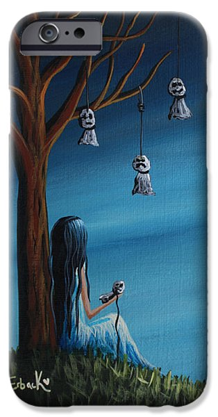 Recently Sold -  - Tree Art Print iPhone Cases - Not Such A Lonely Place After All Original Art iPhone Case by Shawna Erback