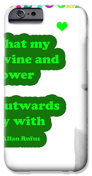 Note to Self  Unique Power iPhone Case by Allan Rufus