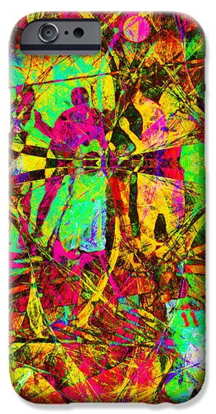 Basketball Abstract iPhone Cases - Nothing But Net The Tip Off 20150310 iPhone Case by Wingsdomain Art and Photography