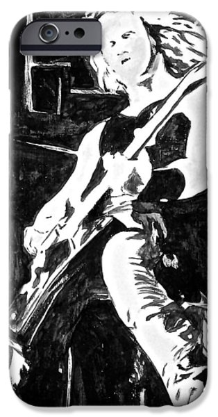 Metallica Paintings iPhone Cases - Nothing else matters iPhone Case by Funk Art