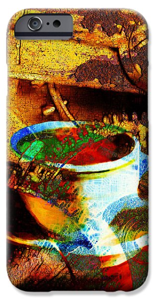 Nothing Like A Hot Cuppa Joe In The Morning To Get The Old Wheels Turning 20130718 iPhone Case by Wingsdomain Art and Photography